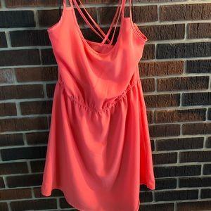 Coral Orange Summer Dress